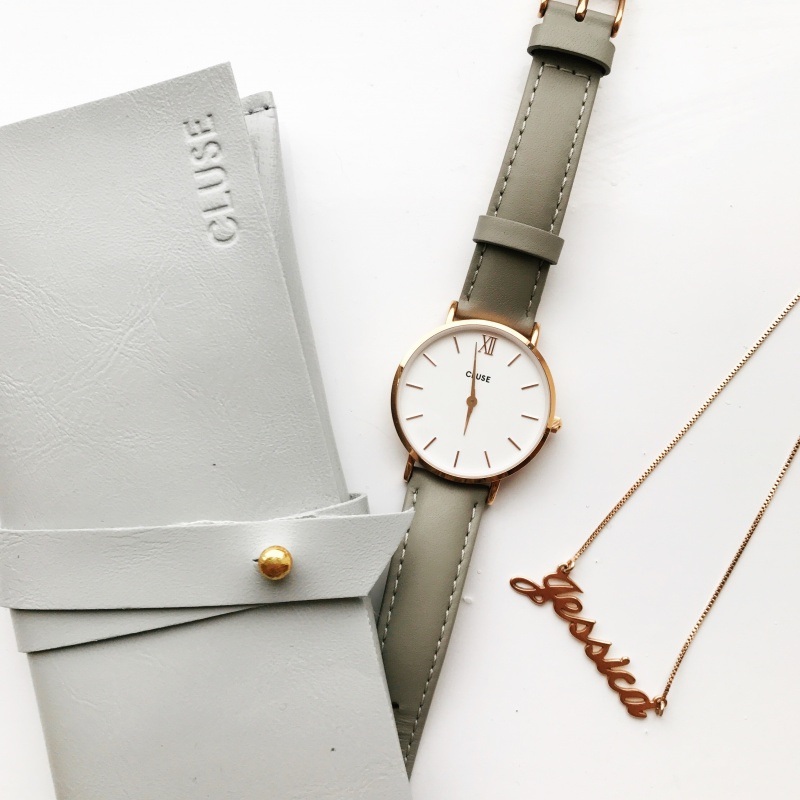 Browns Family Jewellers, Cluse Minuit, Cluse watch, Cluse watches, rose gold, rose gold watch, grey watch