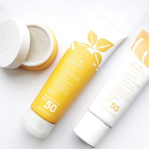Tropic Skincare mineral sun care range including the tinted skin shade SPF 50 in light/ medium, sun balm, skin shade sun protection in SPF 50 and sun soothe after sun lotion. All water resistant, 100% natural and vegan.